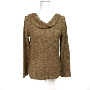 T683 Jones New York Signature Gold Shimmer Sweater